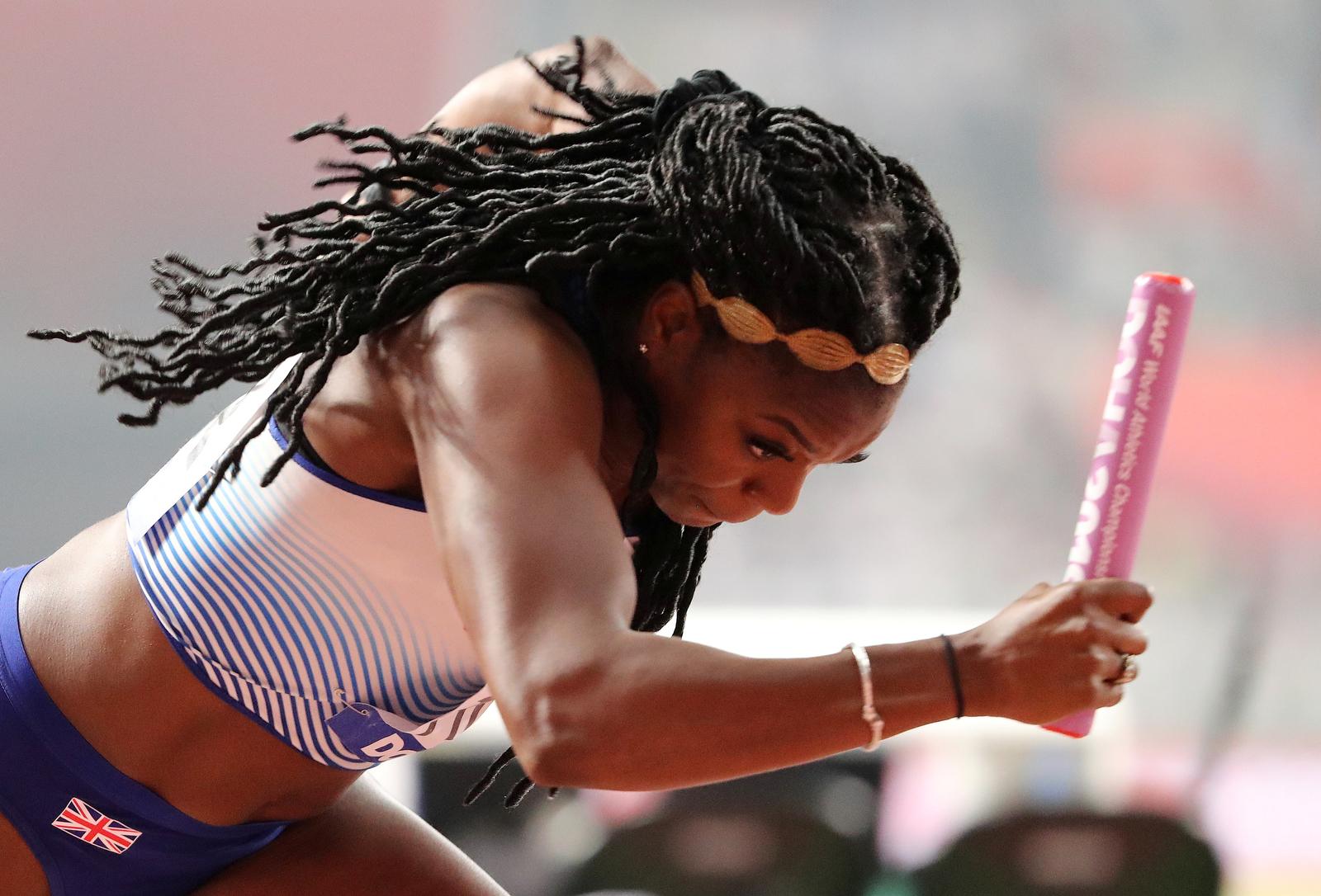 Athletics - World Athletics Championships - Doha 2019 - Women's 4x100 Metres Relay Heats - Khalifa International Stadium, Doha, Qatar - October 4, 2019   Britain's Asha Philip in action REUTERS