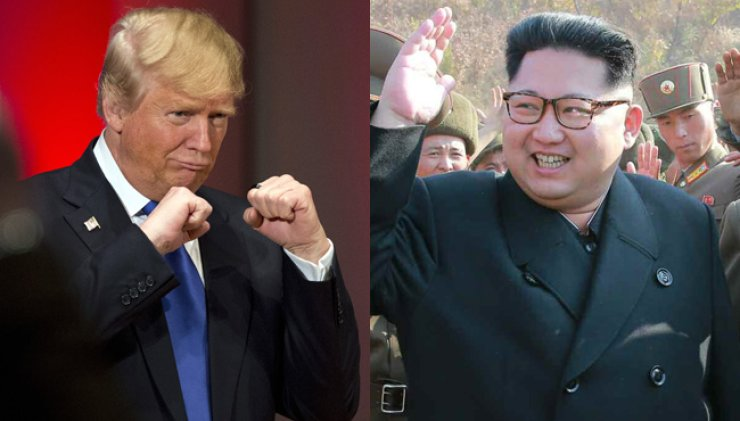 (From left) U.S. president-elect Donald Trump and North Korean leader Kim Jong-un