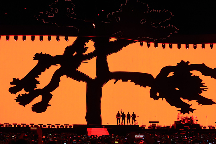 Bono of U2 performs at the Gocheok Sky Dome on December 08, 2019 in Seoul, South Korea. Yonhap