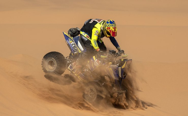 Chilean Quad driver Italo Pedemonte in action during the stage seven of the Rally Dakar 2020 between Riyadh and Wadi Al-Dawasir in Saudi Arabia, 12 January 2020. The Rally Dakar takes place in Saudi Arabia from 05 to 17 January 2020. EPA
