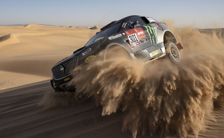 Nani Roma of Spain (Borgward Rally Team) in action during stage eight of the Rally Dakar 2020 in Wadi Al-Dawasir, Saudi Arabia, 13 January 2020. EPA