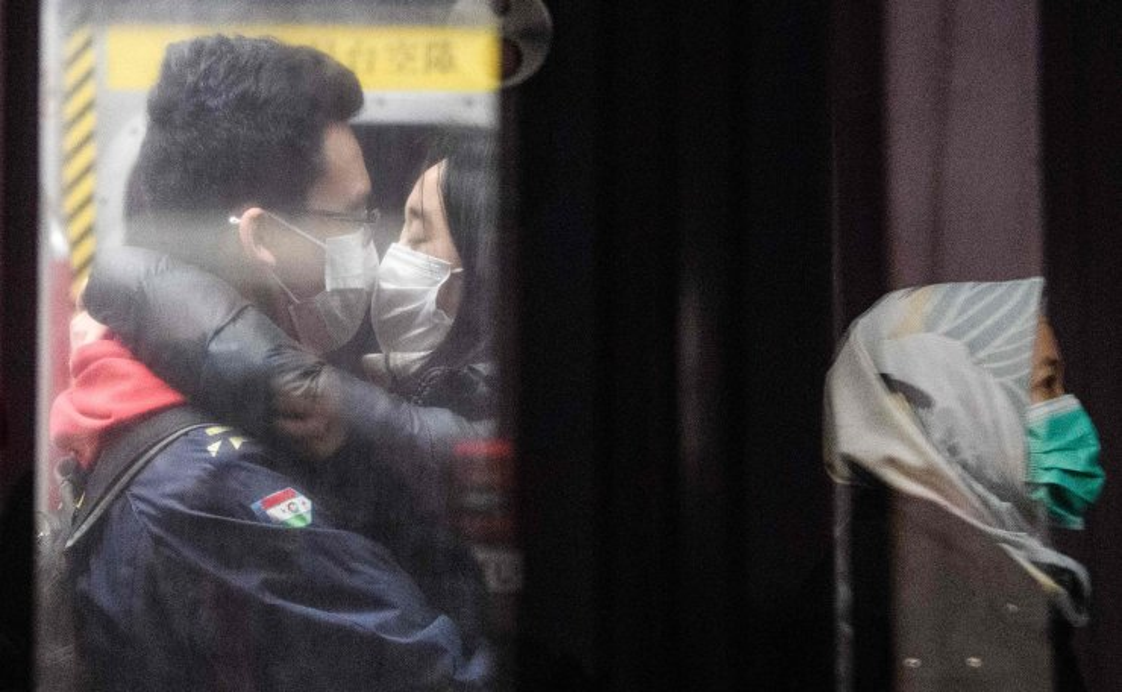 Medical team members heading to Wuhan to reinforce hospitals fighting the coronavirus outbreak prepare to board the train at Nanjing South Railway Station  in Nanjing City, Jiangsu Province, China, 25 January 2020 . EPA