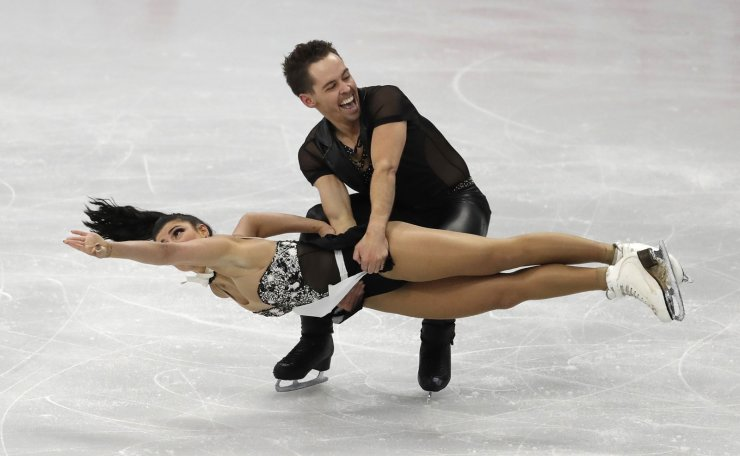 Australia's Chantelle Kerry and Andrew Dodds perform during the Ice Dance Rhythm Dance competition in the ISU Four Continents Figure Skating Championships in Seoul, South Korea, Thursday, Feb. 6, 2020. AP