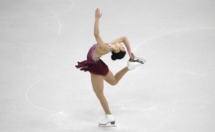 United States' Karen Chen performs during the ladies' single short program competition in the ISU Four Continents Figure Skating Championships in Seoul, South Korea, Thursday, Feb. 6, 2020. AP