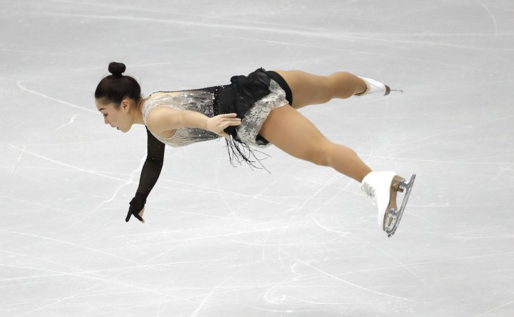 Japan's Wakaba Higuchi performs during the ladies' single short program competition in the ISU Four Continents Figure Skating Championships in Seoul, South Korea, Thursday, Feb. 6, 2020. AP