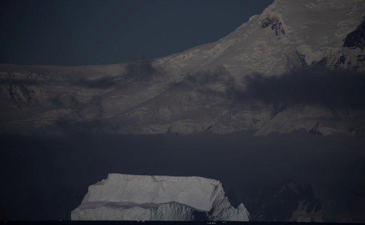 An iceberg floats near Fournier Bay, Antarctica, February 3, 2020. Reuters