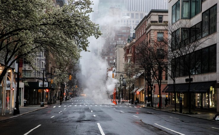 An empty Madison Avenue is seen during the outbreak of the coronavirus disease (COVID-19) in New York City, U.S., March 29, 2020. Reuters
