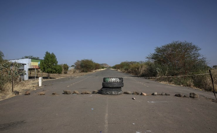 This photo shows the Sudan-Ethiopia border, where Tigray refugees fled from a conflict in the Ethiopia's Tigray region, at Lugdi border crossing, eastern Sudan, Sunday, Nov. 22, 2020. Ethiopia's military is warning civilians in the besieged Tigray regional capital that there will be 'no mercy' if they don't 'save themselves' before a final offensive to flush out defiant regional leaders, a threat that Human Rights Watch on Sunday said could violate international law.  AP