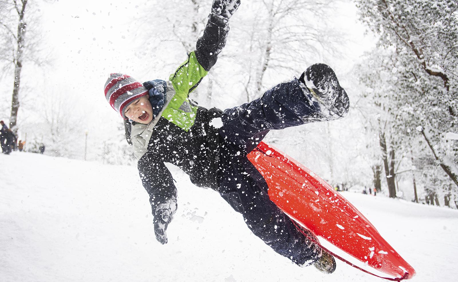 Fun in the snow, sledding for everyone