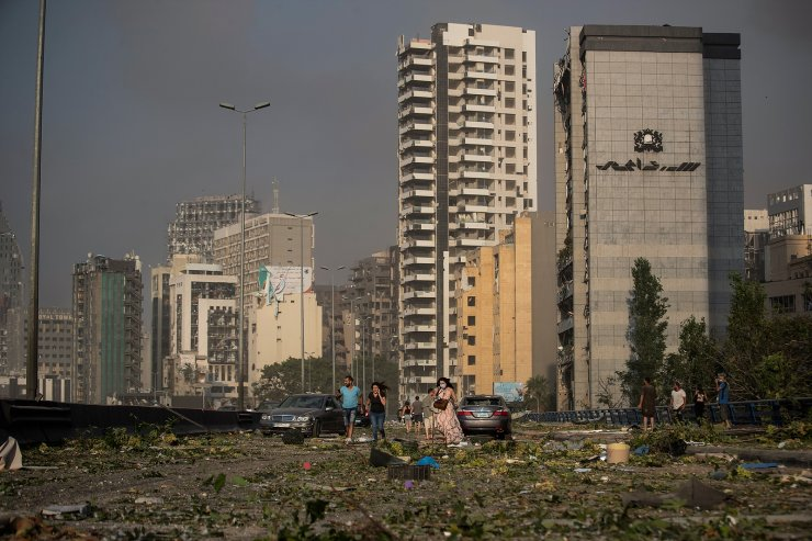 Aftermath of a massive explosion is seen in in Beirut, Lebanon, Aug. 4, 2020. The image was part of a series of photographs by The Associated Press that was a finalist for the 2021 Pulitzer Prize for breaking news photography. AP