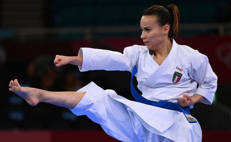 Tokyo 2020 Olympics - Karate - Women's Individual Kata - Elimination Round - Nippon Budokan, Tokyo, Japan - August 5, 2021. Viviana Bottaro of Italy competes. REUTERS