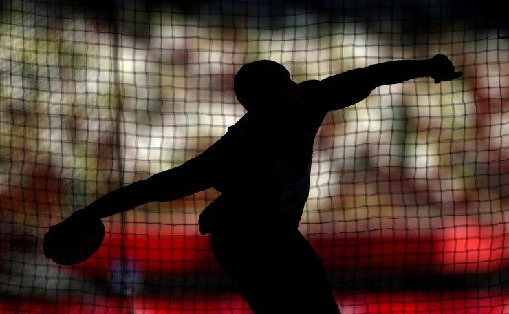 Tokyo 2020 Olympics - Athletics - Men's Discus Throw - Decathlon Discus Throw - Olympic Stadium, Tokyo, Japan - August 5, 2021. Felipe dos Santos of Brazil in action. REUTERS
