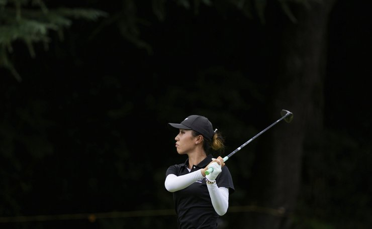 Lydia Ko, of New Zealand, watches her shot from the fourth fairway during the final round of the women's golf event at the 2020 Summer Olympics, Saturday, Aug. 7, 2021, at the Kasumigaseki Country Club in Kawagoe, Japan. AP
