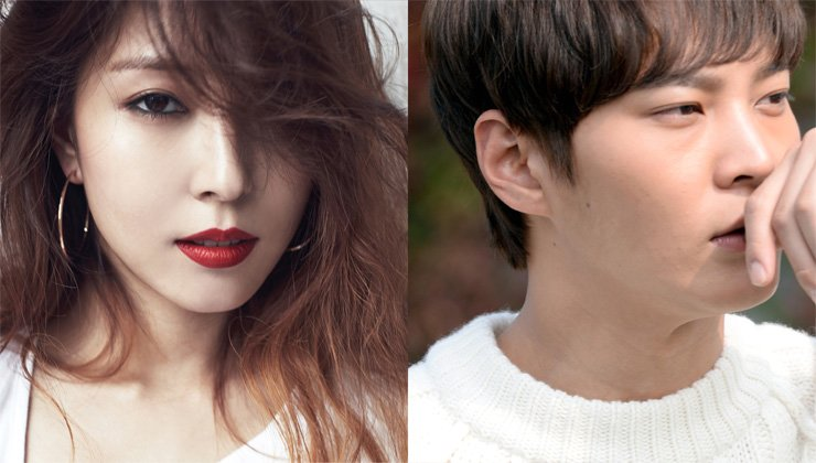 BoA, left, Joo Won, right. / Korea Times file