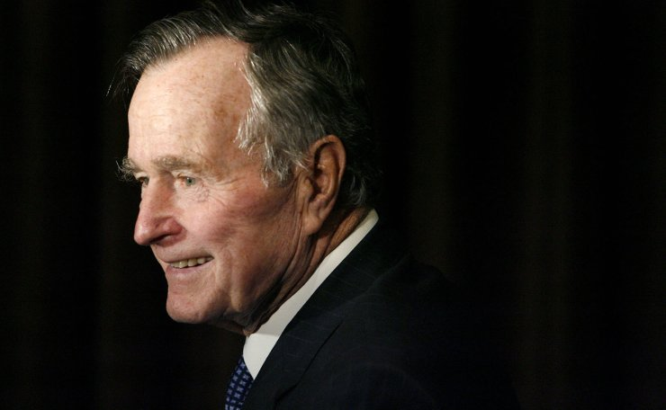 In this Feb. 6, 2007, file photo, former President George H.W. Bush arrives at the 2007 Ronald Reagan Freedom Award gala dinner held in his honor in Beverly Hills, Calif. Bush has died at age 94. Family spokesman Jim McGrath says Bush died shortly after 10 p.m. Friday, Nov. 30, 2018, about eight months after the death of his wife, Barbara Bush. AP