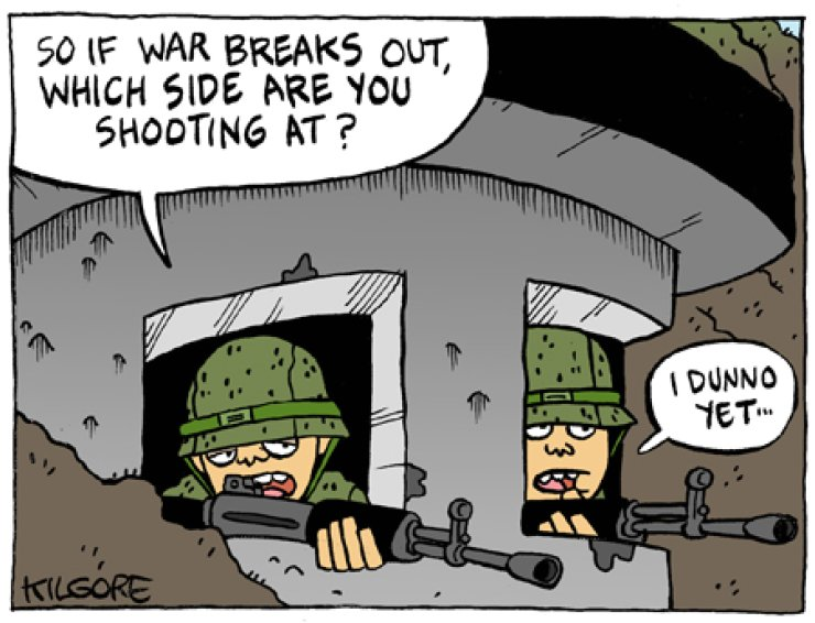 Confused Soldiers