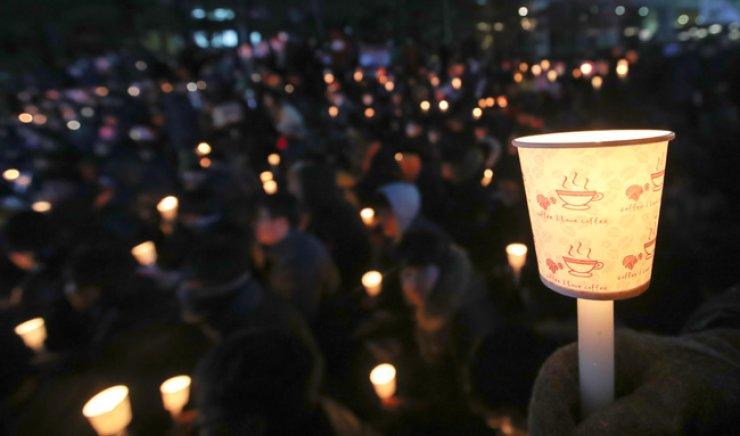 An anti-President rally in downtown Seoul on Nov. 8. / Korea Times file
