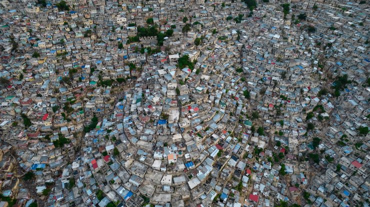 A view of the densely populated Jalousie neighborhood of Port-au-Prince, Tuesday, Sept. 28, 2021. AP