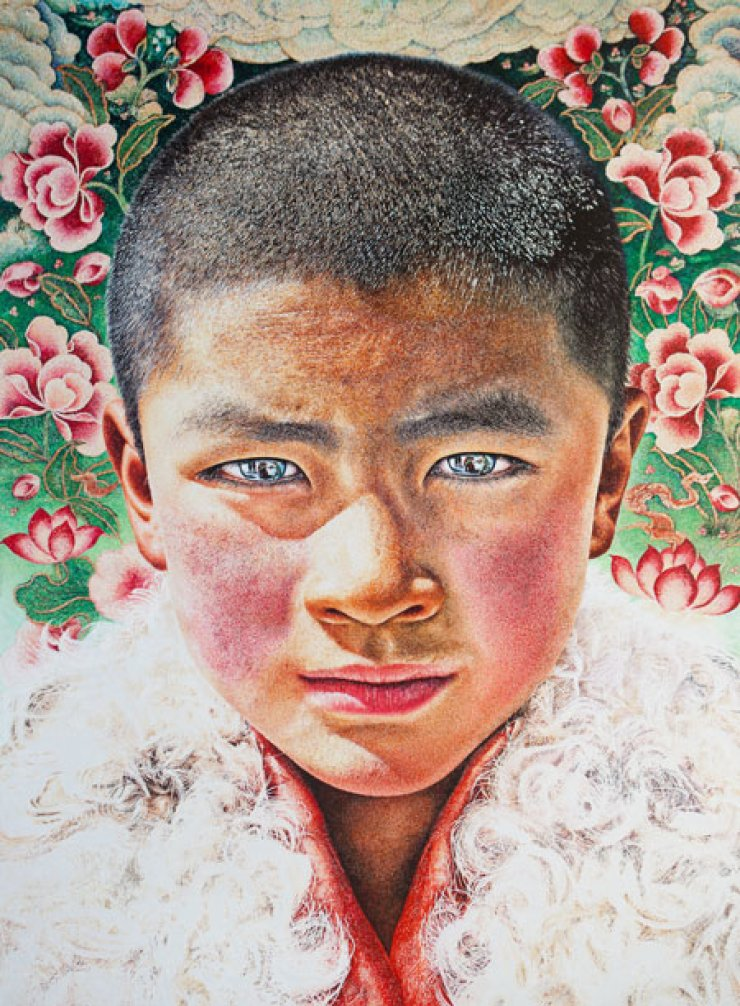 Lim Young-sun's 'Mandala' is among the contemporary art works displayed aside the iconic paintings of Paul Gauguin in the Seoul Museum of Art's  'Gauguin: Voyage into the Myth and After' exhibition. /  Courtesy of SEMA