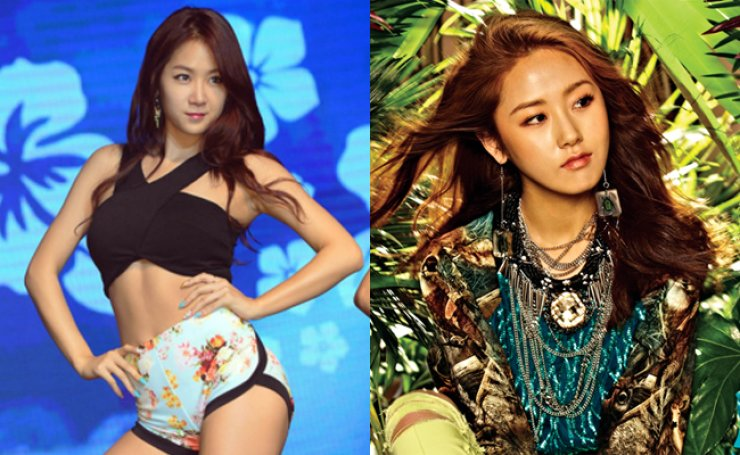 Soyou of Sistar (left) and Heo Ga-yoon of 4Minute