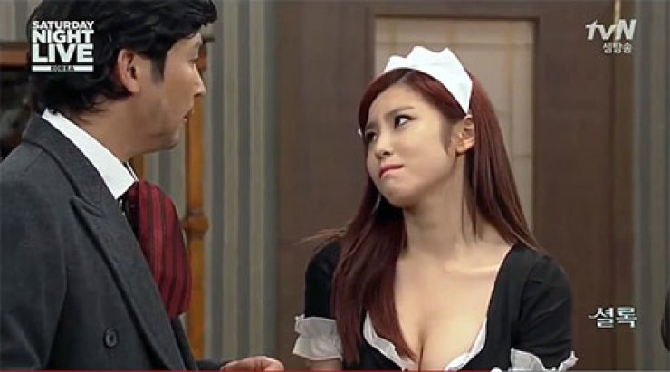SNL Korea goes all-out to showcase pop star's curves