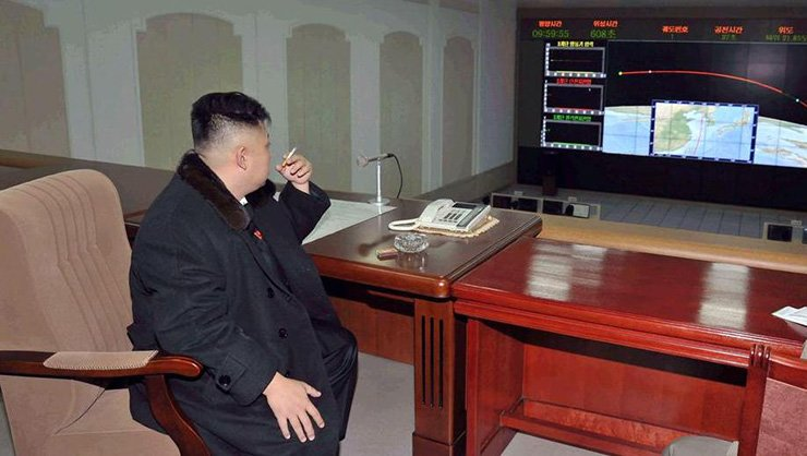 North Korean leader Kim Jong-un is a heavy smoker. But in a country where making a suggestion to the young dictator of anything against his will is considered a blasphemy that deserves heavy punishment, nobody would put one's life at risk to ask him to quit smoking. This Dec. 12, 2012 file photo shows Kim puffing a cigarette at the satellite control center in Pyongyang. / Korea Times file