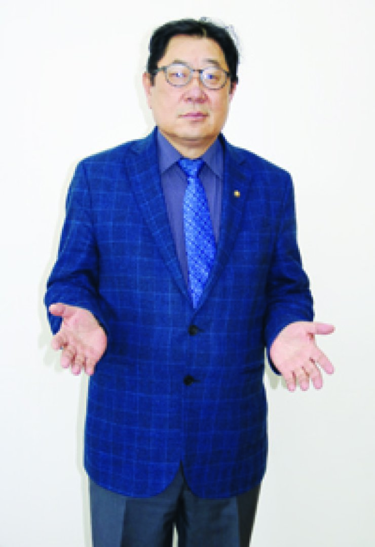 German Kim, head of the Department of Korean Studies at Al-Farabi University in Kazakhstan, gestures during an interview with The Korea Times at the Franciscan Education Center in Seoul on Feb. 24./ Korea Times