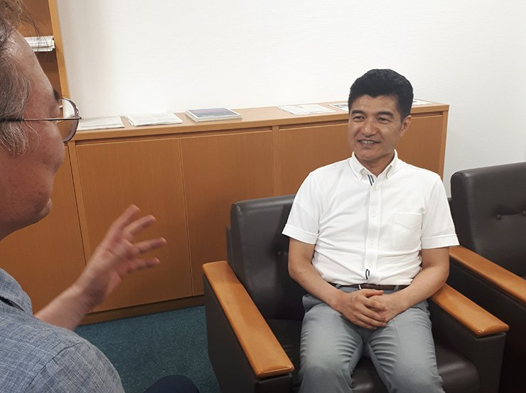 Narushige Michishita speaks during a recent interview.