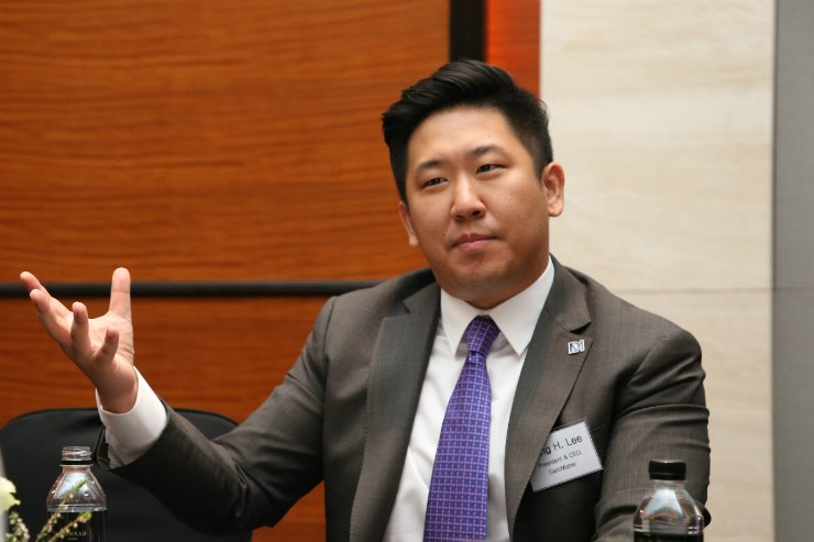DarcMatter Founder and CEO Lee Sang-hwa speaks during an interview with The Korea Times at the Conrad Hotel in Yeouido, Seoul, on Sept. 21. / Courtesy of DarcMatter