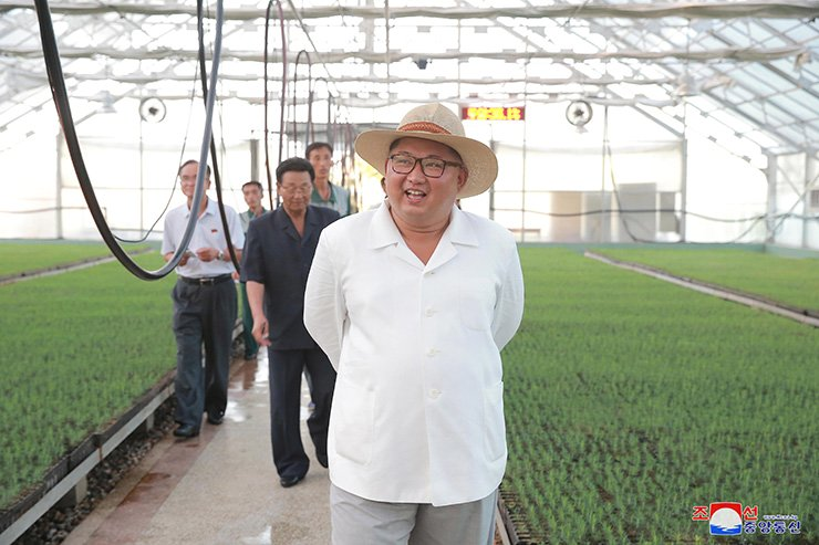 North Korean leader Kim Jong-un inspects in the state's eastern region, according to its media Tuesday. Yonhap