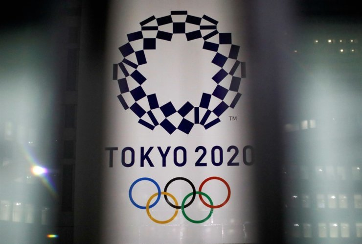 The logo of the Tokyo Olympic Games is seen at the Tokyo Metropolitan Government Office building in Japan in this Jan. 22 file photo. Reuters-Yonhap