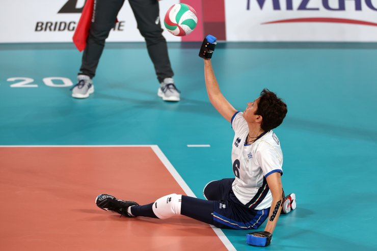 Tokyo 2020 Paralympic Games - Sitting Volleyball - Women's Preliminaries Pool A - Japan v Italy - Makuhari Messe Hall A, Chiba, Japan - August 27, 2021.  Eva Ceccatelli of Italy in action. REUTERS