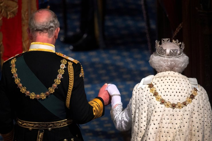 Britain's Queen Elizabeth and Charles, the Prince of Wales are seen during the State Opening of Parliament in the House of Lords at the Palace of Westminster in London, Britain October 14, 2019. REUTERS