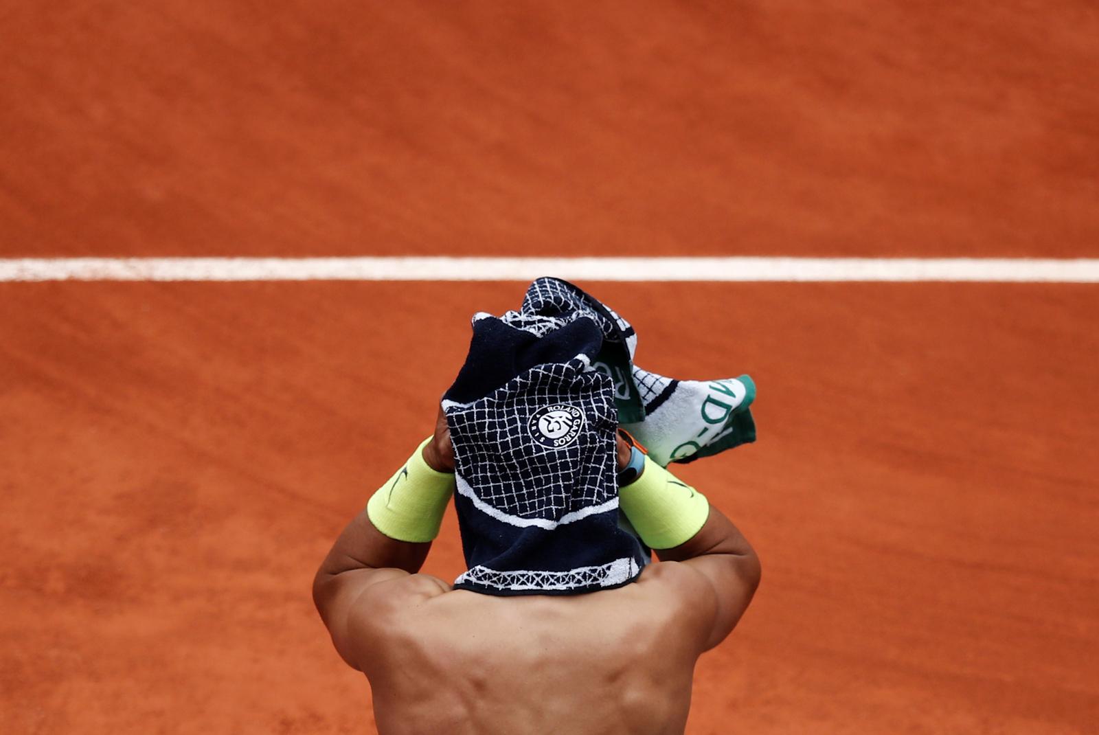 Spain's Rafael Nadal during his semi final match against Switzerland's Roger Federer. Reuters