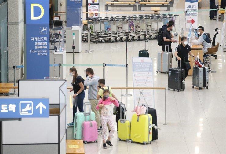 Terminal for international arrivals at Incheon International Airport / Yonhap