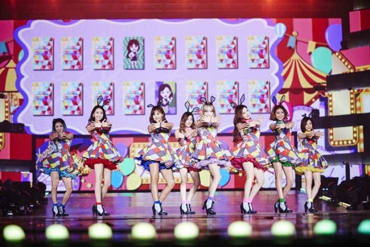 Girls' Generation from their concert 'Phantasia' held at Olypmpic Park in Seoul in November / Courtesy of SM Entertainment
