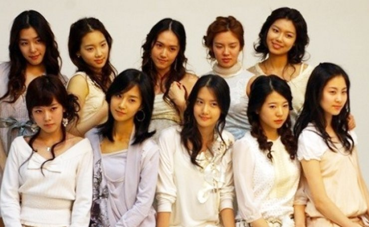 Trainees who were allegedly supposed to debut as Girl's Generation/ Courtesy of Twitter