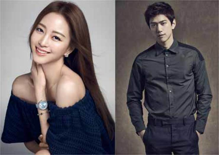 Actors Han Ye-seul, left, and Sung Joon / Courtesy of Keyeast Entertainment, O& Entertainment
