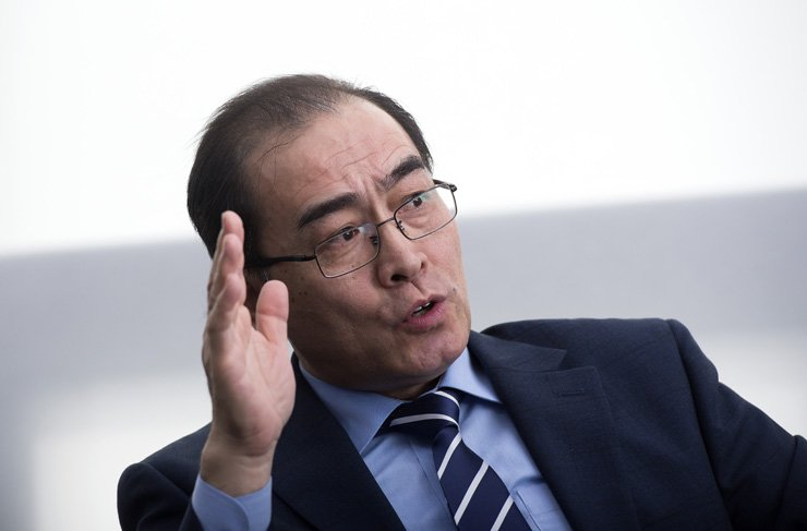 Thae Yong-ho, a former North Korean diplomat who defected to South Korea, speaks during an interview with The Korea Times in Seoul, April 20. / Korea Times photo by Shim Hyun-chul