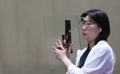 Kim Min-jung wins silver in women's 25m pistol shooting