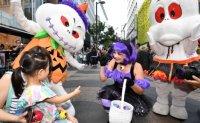 Celebrating Halloween with family in Korea