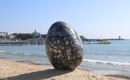 Busan's Ilgwang Beach becomes outdoor art gallery