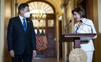 Moon meets Pelosi, discusses North Korea and vaccines