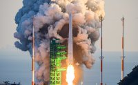 Korea launches first domestically made space rocket
