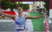 Italy's Stano wins 20km race walk with late surge