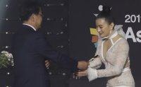 Myanmar star honored at Asia Model Awards