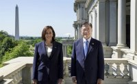 Moon, Harris agree on stronger alliance, vaccine cooperation