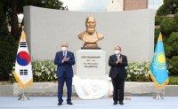 Bust of Kazakh poet unveiled at Seoul Cyber University