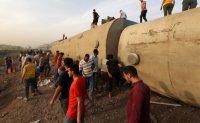 Passenger train derails in Egypt; some 100 injured