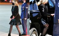 Trashy or chic: US First Lady's fishnet tights cause stir